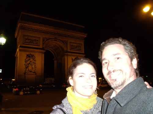 Me and Chris at The Arc de Triomphe